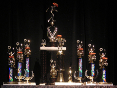 The trophies for the 2nd Annual Grilled Cheese Invitational