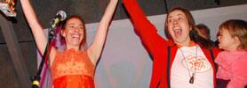 Linda Williamson & Kasey McMahon celebrate their sweet vindication!